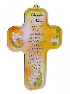 """Copertina di 'Croce in legno """"Angelo di Dio""""  - altezza 13 cm'"""