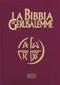 Copertina di 'La Bibbia di Gerusalemme (copertina in pelle color rosso bordeaux e taglio oro)'