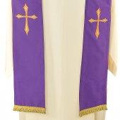 Immagine di 'Stola viola con croce stilizzata'