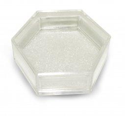 Copertina di 'Scatolina Portarosario in plastica rigida esagonale - 4 x 5 cm'
