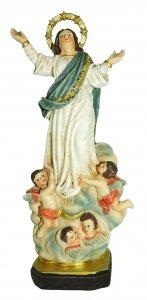 Copertina di 'Statua della Madonna Assunta in cielo da 12 cm in confezione regalo con segnalibro'