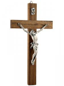 Copertina di 'Crocifisso in legno di noce e Cristo in metallo - altezza 21 cm'