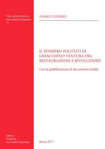 Copertina di 'Il pensiero politico di Gioacchino Ventura fra restaurazione e rivoluzione'