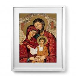 """Copertina di 'Quadro """"Sacra Famiglia"""" con passe-partout e cornice minimal - dimensioni 53x43 cm'"""