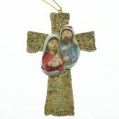 Croce con Sacra Famiglia 11 cm.