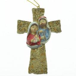 Copertina di 'Croce con Sacra Famiglia 11 cm.'