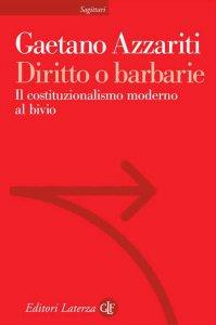 Copertina di 'Diritto o barbarie'