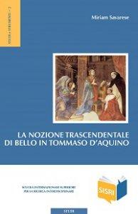Copertina di 'La nozione trascendentale di bello in Tommaso d'Aquino'