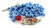 Immagine di 'Rosario Maria che scioglie i nodi imitazione perla - Blu'