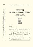 Il Buon Gesù di Orvieto. Fondazione, sviluppo e consolidamento di un monastero di clarisse in Età Moderna  (455-505) - CLARA M. FUSCIELLO, OSC