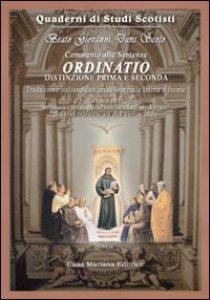 Copertina di 'Ordinatio. Commento alle sentenze'