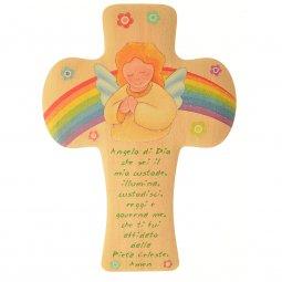 """Copertina di 'Croce """"Angelo di Dio"""" - altezza 12 cm'"""
