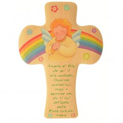 Copertina di 'Croce bombata angelo ed arcobaleno'