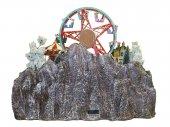 Immagine di 'Villaggio natalizio con giostra e luna park in movimento, luci, musica (60 x 48 x 49 cm)'