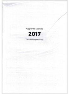 Copertina di 'Dio dell'impossibile - Aggiunta spartito 2017'