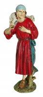 Pastore con agnello sulla spalla Linea Martino Landi - presepe da 12 cm