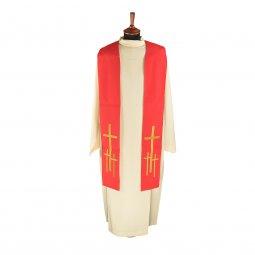 Copertina di 'Stola rossa con croci latine dorate ricamate'