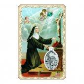 """Card """"Santa Rita"""" con preghiera e medaglia - (10 pezzi)"""