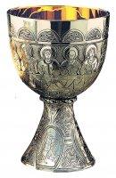 "Calice ""Ultima Cena"" con simboli dei quattro Evangelisti. Versione argentata"
