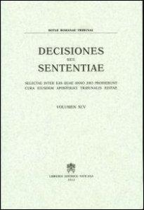 Copertina di 'Rotae Romanae decisiones seu sententiae (2003)'
