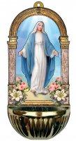 Acquasantiera Madonna Miracolosa - 15,5 x 7,2 cm