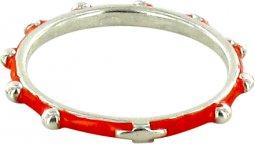 Copertina di 'Fedina rosario argento smaltata rossa mm 14'