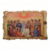 """Magnete resinato a forma di pergamena """"Pentecoste"""" -dimensioni 7x4,5 cm"""