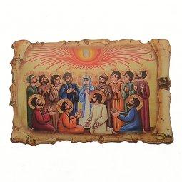 """Copertina di 'Magnete resinato a forma di pergamena """"Pentecoste""""'"""