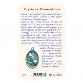 """Immagine di 'Card """"San Cristoforo"""" con preghiera e medaglia - (10 pezzi)'"""