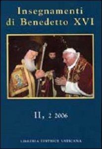"""Copertina di '""""Insegnamenti di Benedetto XVI II,2 2006""""'"""