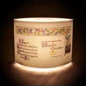 """Immagine di 'Lampada """"Il Signore ti benedica..."""" (San Francesco d'Assisi) - dimensioni 20,5x16,5 cm'"""
