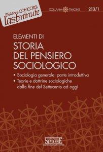 Copertina di 'Elementi di Storia del Pensiero Sociologico'