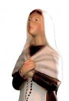 Immagine di 'Statua Santa Bernardetta in gomma dipinta a mano cm 16'