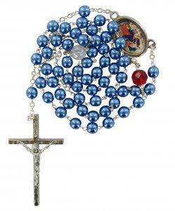 Copertina di 'Rosario Maria che scioglie i nodi imitazione perla - Blu'