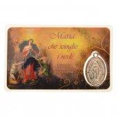 Card medaglia Maria che scioglie i nodi (10 pezzi)