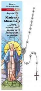 Copertina di 'Collana rosario Madonna Miracolosa - diam. grani mm 4'
