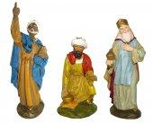 Statuine presepe: Serie 3 Re Magi linea Martino Landi per presepe da cm 12