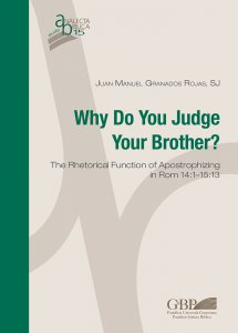 Copertina di 'Why Do You Judge Your Brother?'