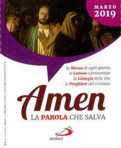 Copertina di 'Amen. La Parola che salva. Marzo 2019'