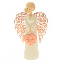 """Copertina di 'Statua in resina angelo """"Vera amicizia"""" - altezza 15 cm'"""