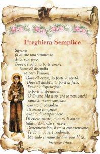 """Copertina di 'Tavoletta sagomata """"Preghiera semplice""""'"""