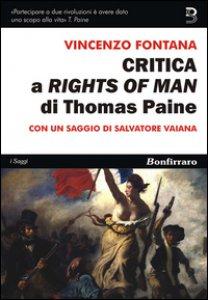 Copertina di 'Critica a «Rights of man» di Thomas Paine'