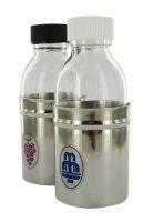 Coppia bottiglie acqua e vino con corazza - 125 cc