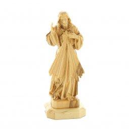 """Copertina di 'Statuetta in legno d'ulivo con base """"Gesù misericordioso"""" - altezza 8 cm'"""