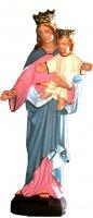Statua Maria Ausiliatrice in materiale infrangibile dipinta a mano - cm 30 di  su LibreriadelSanto.it