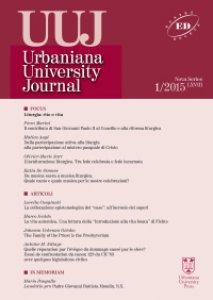 Copertina di 'Urbaniana University Journal 1/2015/LXVIII. Focus: Liturgia: rito e vita'