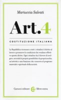 Costituzione italiana: Articolo 4 - Salvati Maria