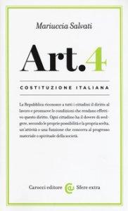 Copertina di 'Costituzione italiana: Articolo 4'