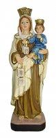 Statua della Madonna del Carmine da 12 cm in confezione regalo con segnalibro in IT/EN/ES/FR