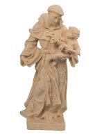 """Statua in legno naturale """"Sant'Antonio di Padova"""" - altezza 21 cm"""